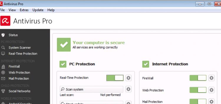 Avira Anti Virus Pro – new core with the fastest malware engine