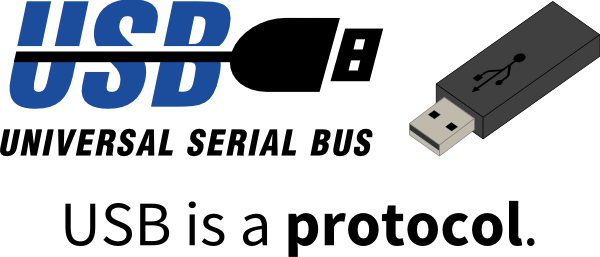 USB is a protocol