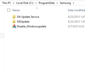 "Samsung's SW Update Says ""NO"" To Windows Update"