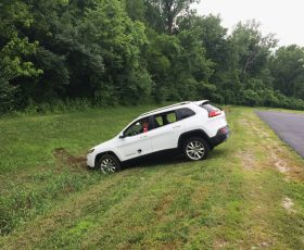 Hacked Car Is Driven Into Ditch