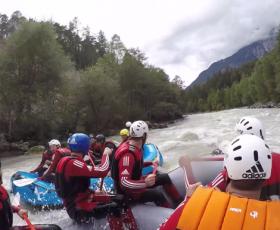 CSI-Teamevent: Rafting im Ötztal