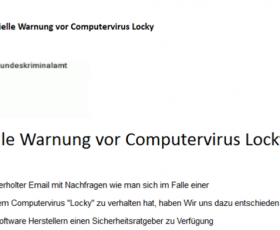 Freeriders phishing on the Locky express