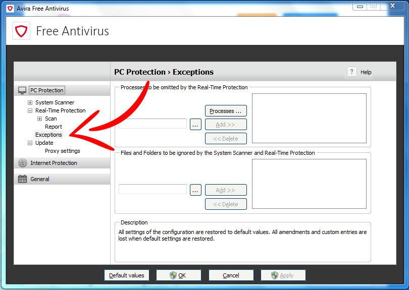 Add exceptions for Avira Antivirus in 3 simple steps