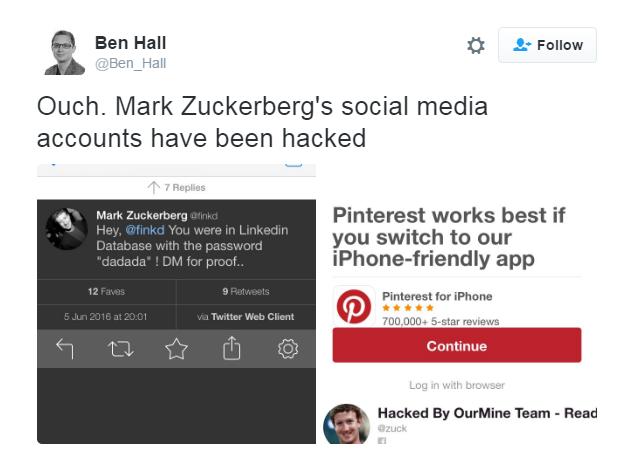 News of the password hack