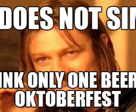 Oktoberfest is oh so trending