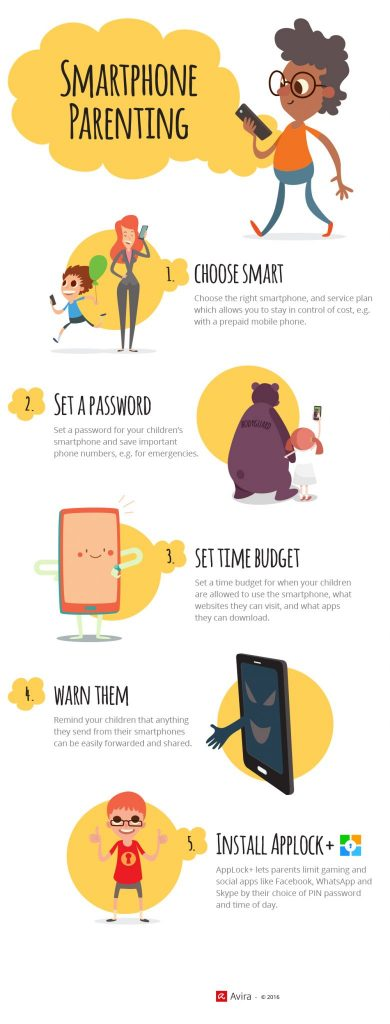 Back to school, Smartphone, tips tricks infographic