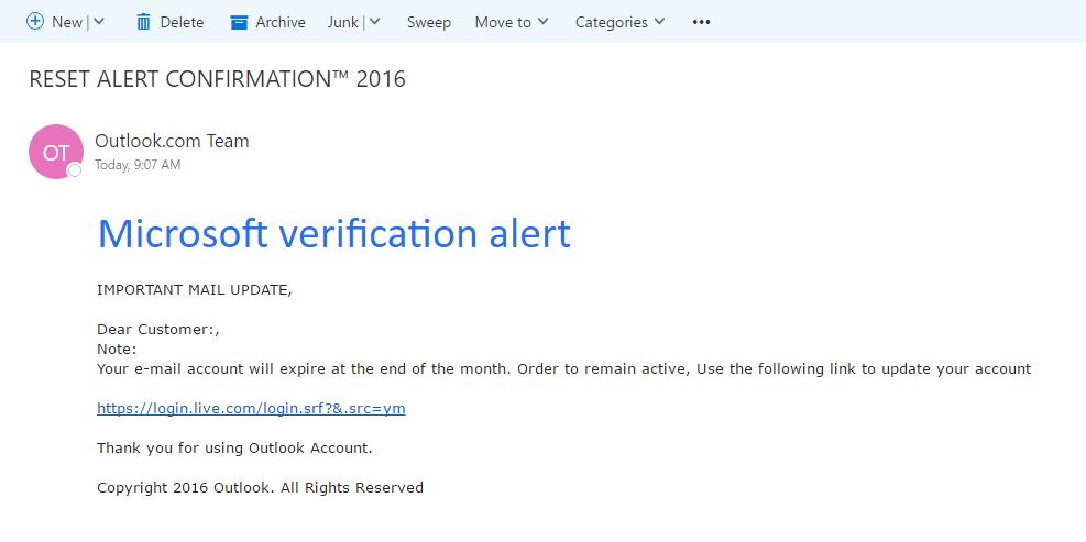 Phish - Phishing email
