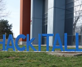 HackITAll hackathon – 60 students, 20 teams, 3 winners, 1 Polly