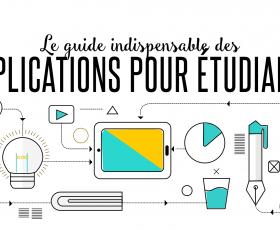 [Infographie] Le guide indispensable des applications pour étudiants