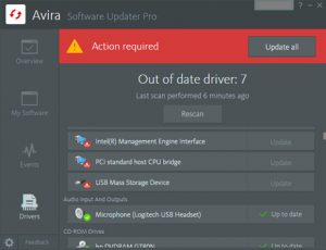 The Driver Updater: Beta for a new Avira Software Updater feature! - in-post