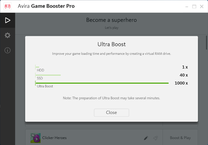 Raise the fun potential with Avira Game Booster - in-post Ultra Boost