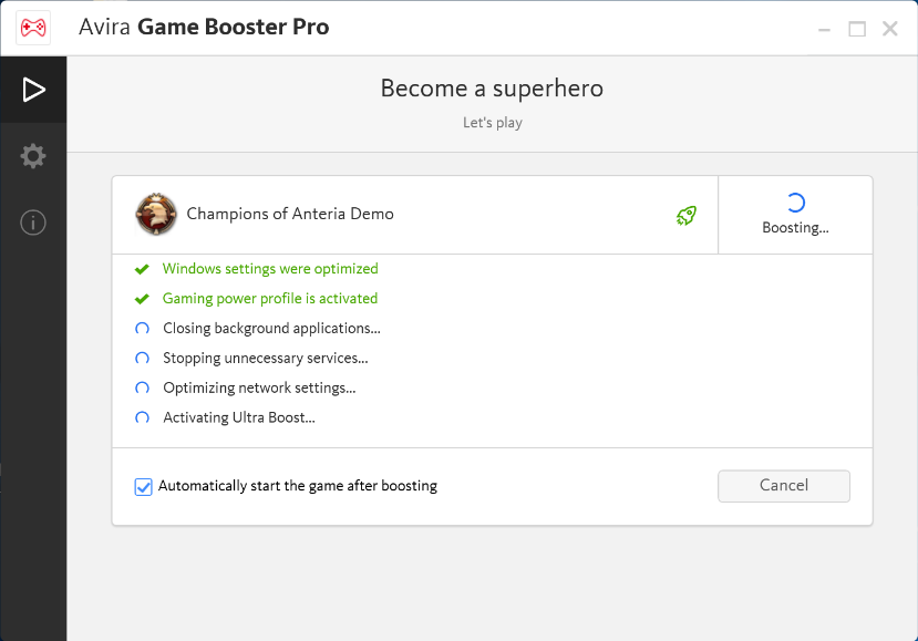 Raise the fun potential with Avira Game Booster - in-post