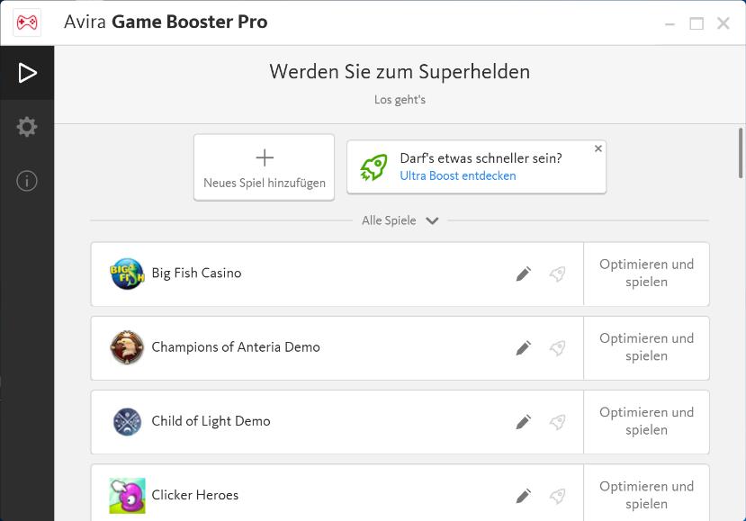 Magischer Spielspaß mit Avira Game Booster - in-post Spiel hinzufügen
