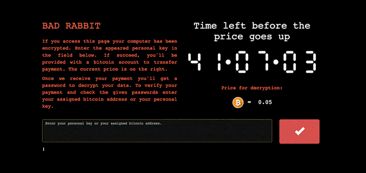 Bad Rabbit – the not so cute ransomware