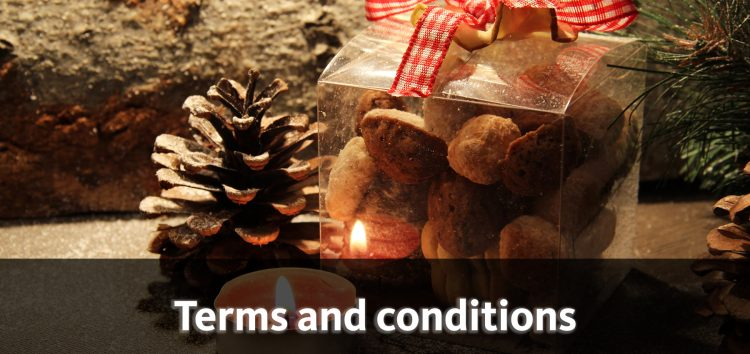 Advent calendar raffle – the terms and conditions