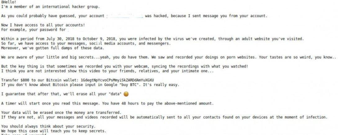 Hacker e mail von eigenem account