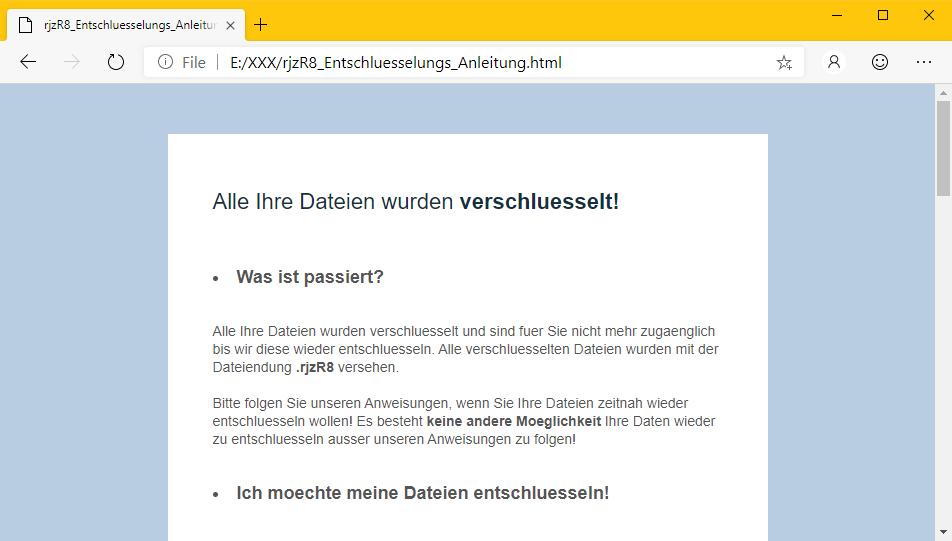 GermanWiper - Ransomware Note