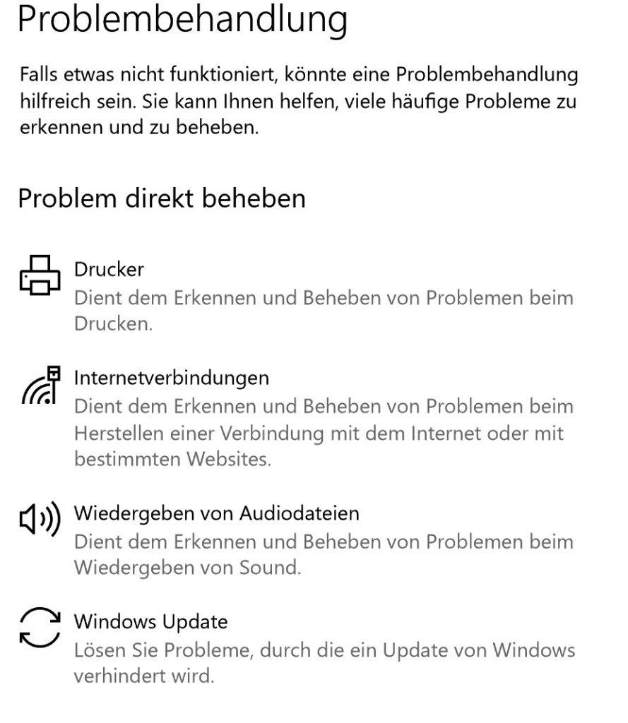 Die Windows-Assistenten versuchen bei gängigen Problemen zu helfen – leider klappt das nicht immer.