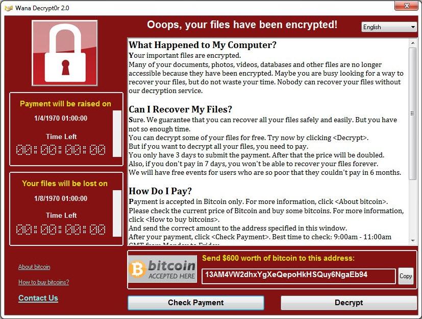 Wenn beim PC-Start eine Nachricht wie diese erscheint, hat sich ein Erpresservirus auf dem Computer eingenistet.